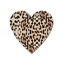Leopard pattern Heart Magnet