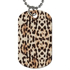 Leopard pattern Dog Tag (Two Sides)
