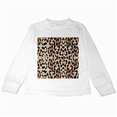 Leopard pattern Kids Long Sleeve T-Shirts