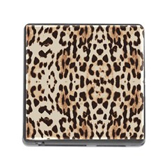 Leopard pattern Memory Card Reader (Square)