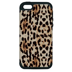 Leopard pattern Apple iPhone 5 Hardshell Case (PC+Silicone)