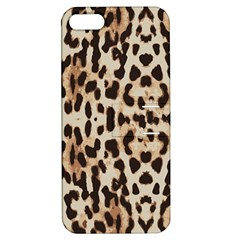 Leopard pattern Apple iPhone 5 Hardshell Case with Stand