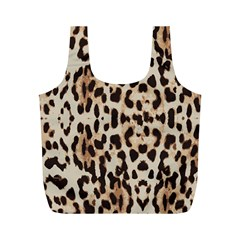 Leopard pattern Full Print Recycle Bags (M)