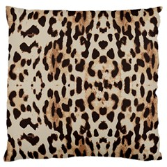 Leopard pattern Large Flano Cushion Case (One Side)