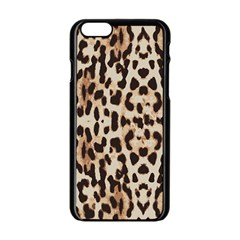 Leopard pattern Apple iPhone 6/6S Black Enamel Case