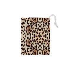 Leopard pattern Drawstring Pouches (XS)