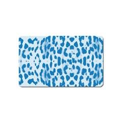 Blue leopard pattern Magnet (Name Card)