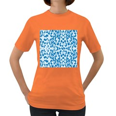 Blue leopard pattern Women s Dark T-Shirt