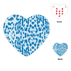Blue leopard pattern Playing Cards (Heart)