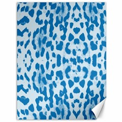 Blue leopard pattern Canvas 36  x 48