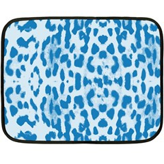 Blue leopard pattern Double Sided Fleece Blanket (Mini)