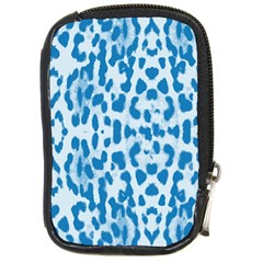 Blue leopard pattern Compact Camera Cases