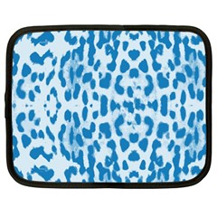 Blue leopard pattern Netbook Case (XL)