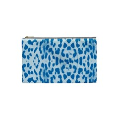 Blue leopard pattern Cosmetic Bag (Small)