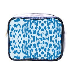 Blue leopard pattern Mini Toiletries Bags