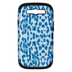 Blue leopard pattern Samsung Galaxy S III Hardshell Case (PC+Silicone)