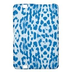 Blue leopard pattern Kindle Fire HD 8.9