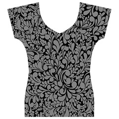 Pattern Women s V-Neck Cap Sleeve Top
