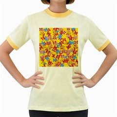 Butterflies  Women s Fitted Ringer T-Shirts