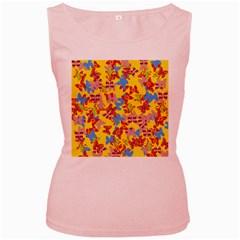 Butterflies  Women s Pink Tank Top