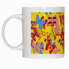 Butterflies  White Mugs