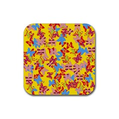 Butterflies  Rubber Coaster (Square)