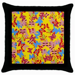 Butterflies  Throw Pillow Case (Black)