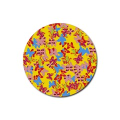 Butterflies  Rubber Round Coaster (4 pack)