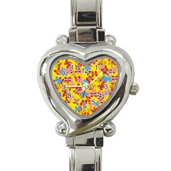 Butterflies  Heart Italian Charm Watch