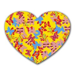 Butterflies  Heart Mousepads