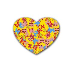 Butterflies  Rubber Coaster (Heart)