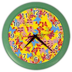 Butterflies  Color Wall Clocks