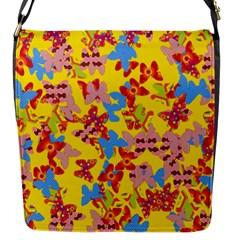 Butterflies  Flap Messenger Bag (S)