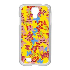 Butterflies  Samsung GALAXY S4 I9500/ I9505 Case (White)
