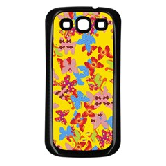 Butterflies  Samsung Galaxy S3 Back Case (Black)