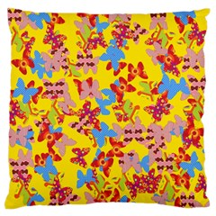 Butterflies  Large Flano Cushion Case (Two Sides)