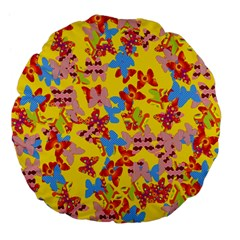 Butterflies  Large 18  Premium Flano Round Cushions