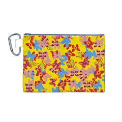 Butterflies  Canvas Cosmetic Bag (M)