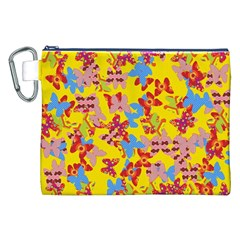 Butterflies  Canvas Cosmetic Bag (XXL)