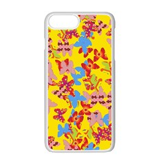 Butterflies  Apple iPhone 7 Plus White Seamless Case