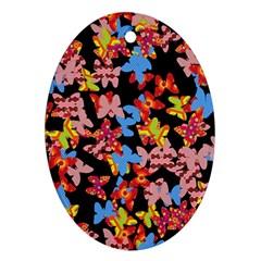Butterflies Ornament (Oval)