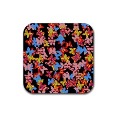 Butterflies Rubber Square Coaster (4 pack)