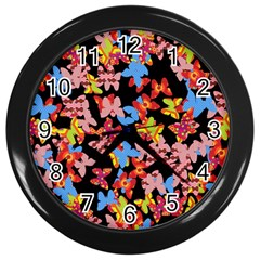 Butterflies Wall Clocks (Black)