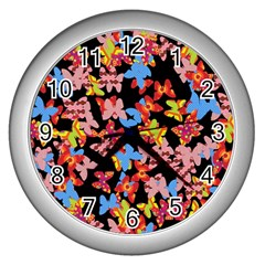 Butterflies Wall Clocks (Silver)
