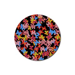 Butterflies Rubber Coaster (Round)
