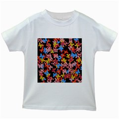 Butterflies Kids White T-Shirts