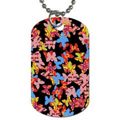 Butterflies Dog Tag (Two Sides)