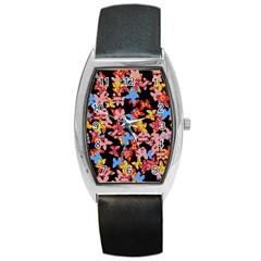 Butterflies Barrel Style Metal Watch