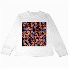 Butterflies Kids Long Sleeve T-Shirts