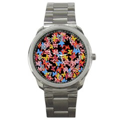Butterflies Sport Metal Watch
